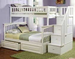 twin over full bunk bed with stairs. Wonderful Twin Over Full Bunk Bed White Ogden Stairway With Stairs F
