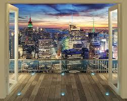 New York Skyline Posterbehang Fotobehang Breng Dit Behang Aan Op