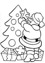 Small Picture Santa Hat Coloring Pages Good Christmas Coloring Page Of A