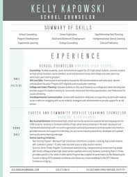 graphic resume sample for school counselor vocational counselor resume