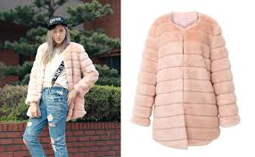 luxe glam faux mink fur coat in pink 178