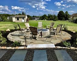 flagstone patio with fire pit. This Fire Pit Is A Great Focal Point To Irregular Flagstone Patio In Schwenksville, PA. With C