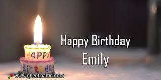 Happy Birthday Emily Candle Fire - Greet Name