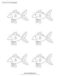 Small Fish Template Fish Coloring Page For Small Kids Outline Shape Templates Contency Co