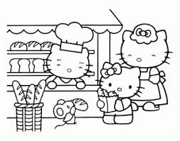 Look this awesome coloring page of hello kitty dressed as a mermaid and surrounded by beautiful flowers! Hello Kitty Free Printable Coloring Pages For Kids