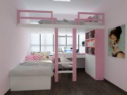 Little Girls Bedroom Suites Wonderful Loft Bed Set For Girl With Study Desk And Large Storage