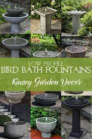 bird bath water fountains cast stone