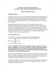 Entry Level Esthetician Resume Esthetician Cover Letter Photos HD Goofyrooster 15