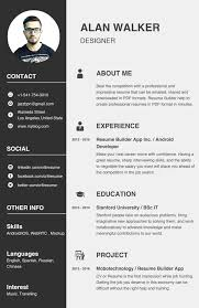 Resume Builder App For Android Sidemcicek Com