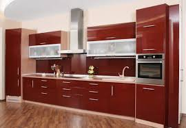 kitchen stylish kitchen cabinet to ceiling with red finish also metal handles nice looking kitchen