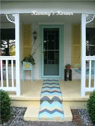 outdoor rug painted on cement porch paint rugs concrete