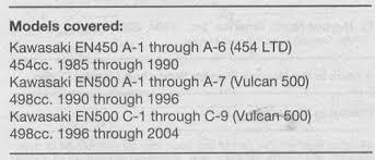 kawasaki en 450 500 vulcan 1985 2004 service manual pay for kawasaki en 450 500 vulcan 1985 2004 service manual