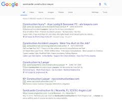 google rolls out new ad format deceptive or will it get more google serp sandcastle construction lawyer used to show how google adwords ads display in search
