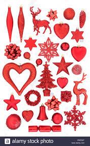 Rot Christbaumschmuck Ornamente Und Symbole Für Die