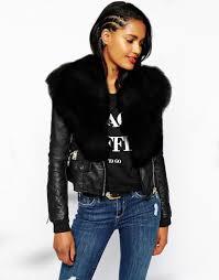 2019 new women faux fur shawl biker jacket long sleeve zip womens las leather coat jackets short mink coats winter black parka coats overcoat from
