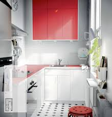 White And Red Kitchen White Red Kitchen Ikea Interior Design Ideas