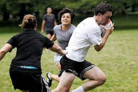 view full sizekatie currid the oregonianbill monroe attempts to evade tags by defenders molly luft left and san juanita moreno during a touch rugby game