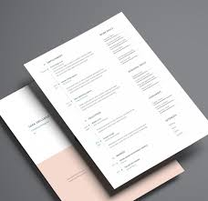 Indesign Resume Template Resume Cover Letter Template Throughout