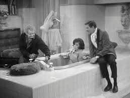the routine was later revived for a 1972 segment of love american style called love and the bathtub unlike moore who was kept off for most of her