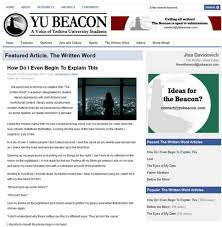 editor of yeshiva u paper resigns amid outrage over sex essay  a co editor of yeshiva university s student newspaper the beacon resigned friday amid