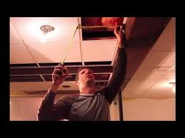 how to cut drop ceiling tiles you
