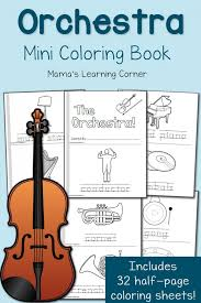 Small Picture FREE Orchestra Coloring Pages Mini book Free Homeschool Deals
