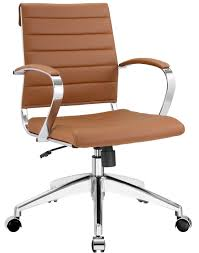 aria leather office chair advancedinteriordesigns low back tan color full white resin chairs featherlite round dining