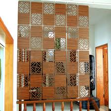 Small Picture Space Art Carved wood veneer wall panels hanging off the living