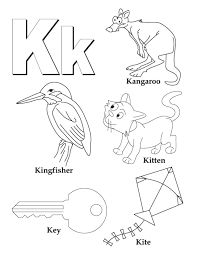 Small Size Coloring Pages Letters And Alphabet Letter K Is For
