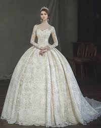 Vintage Victorian Gothic Ball Gown Wedding Dresses 2018 Amazing Lace Pearl Detail Sweetheart Long Sleeve Arabia Turkey Pakistan Wedding Gown Dream