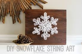 String Art Patterns Diy Snowflake String Art 18 Easy To Build Christmas Projects