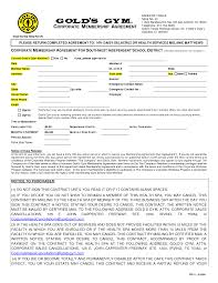Gym Contract Template gym contract template wowcircletk 1