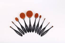 amazon messon 10pcs oval toothbrush makeup brush set professional makeup tool beauty