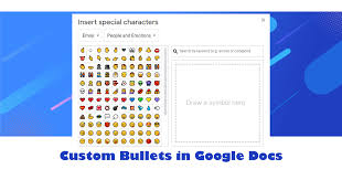 You signed out in another tab or window. Custom Bullets In Google Docs Technokids Blog