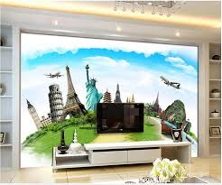 liberty bedroom wall mural: home decoration european architecture of the world famous eiffel tower wallpaper videos tv sofa backdrop wall