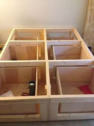 bed frame with storage how build platform diy drawers