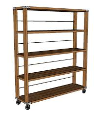 ana white rolling industrial shelves diy projects rolling shelves