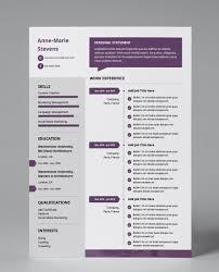 Modern Resume Pdf Plum Apply Modern Single Page Cv Resume Modern Resume