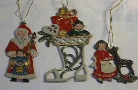 Weihnachten 3 Anhänger Reh Kind Nikolaus Stiefel