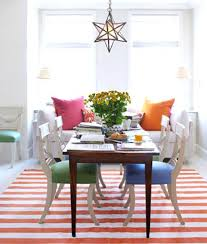 striped dhurrie rug summer rugs orange and white striped dining room rug in a dining room