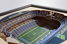 Seattle Seahawks Century Link Field 3d Wood Stadium Replica 3d Wood Maps Bella Maps