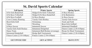 list of sports teams varsity sports information st david c s s