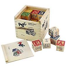 Game Played With Wooden Blocks Buy Generic ABC 100 Wooden Blocks Letters Numbers with Box Storage 50