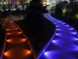 Color Changing Landscape Lights Wifi Black Half Moon 35mm Rgb Color Changing 12v Led Deck Rail Step Fence Lights