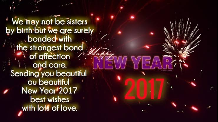 happy new year greetings message 2017
