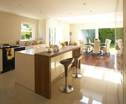 kitchen breakfast bar window contemporary with white floor in and countertops sliding doors on 990x820px