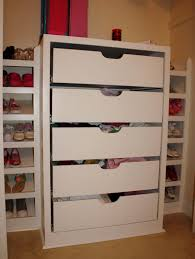 bulit in white wooden shelving unit with drawers adorable closet organizers with drawers bedroom