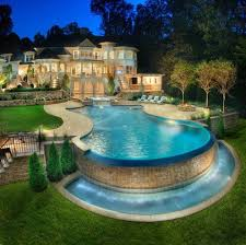 ... Beautiful Backyards With Pools Beautiful Backyard Lighting Pools.