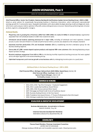 Awards Resume Samples Executive Resume Services