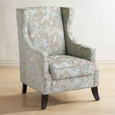 Blue Patterned Chair Classy Alec Blue Floral Wing Chair Pier 48 Imports